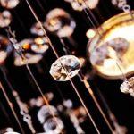 Saint Mossi Moderne Design K9 Cristal Gouttelette Lustre Éclairage LED Plafonnier Plafond Luminaire Suspension Luminaire pour Salle à Manger Salle De Bains Chambre Salon 5 GU10 40 x 45 x 40 cm de la marque Saint Mossi image 4 produit