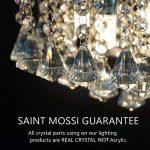 Saint Mossi Moderne Design K9 Cristal Gouttelette Lustre Éclairage LED Plafonnier Plafond Luminaire Suspension Luminaire pour Salle à Manger Salle De Bains Chambre Salon 5 GU10 40 x 45 x 40 cm de la marque Saint Mossi image 1 produit