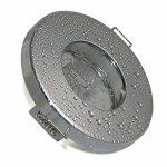 Salle de bain einabu IP65| couleur chrome | 12V GU5.3MR1612V AC/DC LED 5W Blanc Chaud 2700K 450Lumen | Douille de lampe avec câble de raccordement inclus de la marque Del image 2 produit