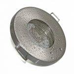Salle de bain Spot IP65| couleur acier inoxydable brossé | 12V GU5.3MR1612V AC/DC 5W LED blanc chaud 2700K 450lumens | Douille de lampe avec câble de raccordement inclus de la marque Del image 2 produit
