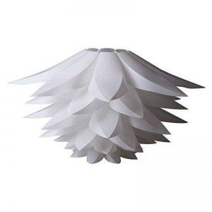 Seakin puzzle Lotus Abat-jour DIY lampe Nuances kit Lotus Lustre IQ PP Abat-jour Pendentif à suspendre Abat-jour de suspension pour plafonniers Bedroon Salon Diamètre: 53cm (Blanc) de la marque Seakin image 0 produit