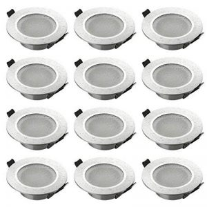 sebson 12x Spot encastrable Salle de Bain Type 14, IP44 Alu Mat LED/Halogene, INCL. Culot GU10 de la marque sebson image 0 produit