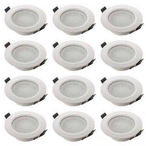 sebson 12x Spot encastrable Salle de Bain Type 15, IP44 Alu Mat Blanc LED/Halogene, INCL. Culot GU10 de la marque sebson image 0 produit