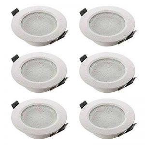 sebson 6X Spot encastrable Salle de Bain Type 15, IP44 Alu Mat Blanc LED/Halogene, INCL. Culot GU10 de la marque sebson image 0 produit