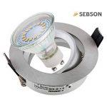 SEBSON® 6x Spot encastrable type 4 incl. Ampoules LED GU10 3.5W (remplace 30W), Blanc chaud, 300lm, 110° de la marque sebson image 1 produit