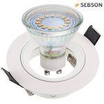 SEBSON® 6x Spot encastrable type 7 incl. Ampoules LED GU10 3.5W (remplace 30W), Blanc chaud, 300lm, 110° de la marque sebson image 1 produit