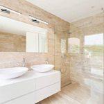 SEBSON Lampe Miroir Led, montage mural, lampe miroir salle de bain IP44, blanc neutre 4000K, 410x 135x 41mm, 8W, 600 de la marque sebson image 4 produit
