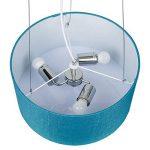 SEBSON® Lampe Suspension en textile turquoise avec 3x ampoule LED E27 5W, blanc chaud, 400lm, suspension luminaire, plafonnier, Ø400 x 200mm de la marque sebson image 3 produit