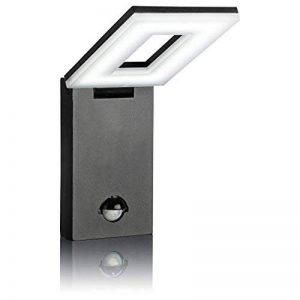 SEBSON Luminaire exterieur detecteur de mouvement, Lampe Murale LED, Design, noir, blanc froid 6500K, 10W, 650lm, Applique murale LED, 298x100x26mm de la marque sebson image 0 produit