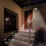 SEBSON Luminaire exterieur detecteur de mouvement, Lampe Murale LED, Design, noir, blanc froid 6500K, 10W, 650lm, Applique murale LED, 298x100x26mm de la marque sebson image 4 produit