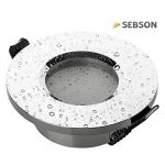 Sebson® Spot Encastrable, Type 10, Chrome, Ip44, Aluminium, LED/Halogene, INCL. Culot Gu10 de la marque sebson image 1 produit