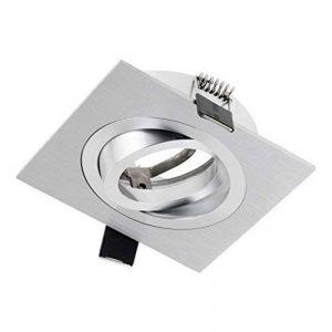 Sebson® Spot Encastrable, Type 8, Pivotant, Aluminium, Carre, LED/Halogene, INCL. Culot Gu10 de la marque sebson image 0 produit