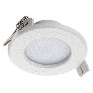 SEBSON® Spot LED encastrable Salle de Bain IP44, rond, 5W, blanc chaud (3000K), 400lm, Spot de plafond, Panneau LED, Ø85x30mm de la marque sebson image 0 produit