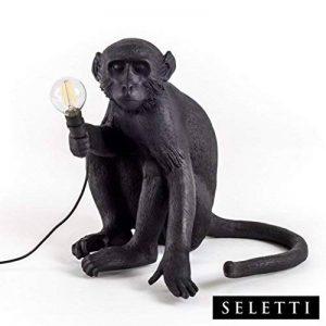 Seletti Monkey Lamp assis résine, noir, 45x 39x 36cm de la marque Seletti image 0 produit