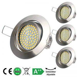 Set de 4 spots LED à encastrer 4x 3.5W 350lm 4000K lumière du jour blanc, équivalent 40W,Spot encastrable Spot encastrable plafond spots plafonnier de la marque NetBoat image 0 produit