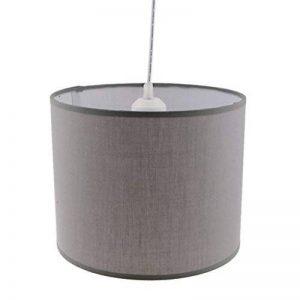 Sharplace Abat-jour Suspendu de Cage en Tissu Lampe Ombre pour Plafonnier E27 - Gris de la marque Sharplace image 0 produit