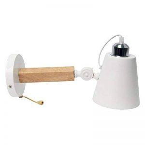 Signstek E27 Lampe de Mur Créative en Bois avec Interrupteur de Fermeture à Glissière (Blanche) de la marque Signstek image 0 produit