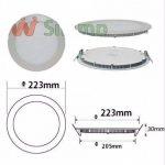 Silamp - Downlight Dalle LED Extra Plate Ronde Blanc 18W - Couleur eclairage : Blanc Neutre 4000K - 5500K de la marque Silamp image 3 produit