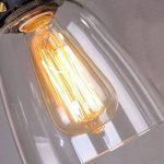 SISVIV Suspension Luminaire Industrielle Vintage Rétro Edison Abat-jour en Verre Lustre Salon Lampe Design Plafonnier Pendant E27 Décoration Cuisine Chambre Salle à manger Restaurant Bar de la marque SISVIV image 2 produit