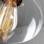 SISVIV Suspension Luminaire Industrielle Vintage Rétro Edison Abat-jour en Verre Lustre Salon Lampe Design Plafonnier Pendant E27 Décoration Cuisine Chambre Salle à manger Restaurant Bar de la marque SISVIV image 3 produit