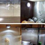 SOAIY Lot de 5 Spot Lampe LED Éclairage de Nuit Autocollant Alimenté par 3 Piles/Batteries pour Penderie/Placard/Étagère/Entrée/Cuisine/Passage de la marque SOAIY image 2 produit