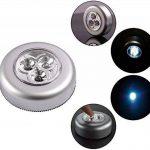 SOAIY Lot de 5 Spot Lampe LED Éclairage de Nuit Autocollant Alimenté par 3 Piles/Batteries pour Penderie/Placard/Étagère/Entrée/Cuisine/Passage de la marque SOAIY image 4 produit
