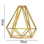 SODIAL Forme de diamant en metal Vintage Pendentif Cage de lampe de plafond Decor d'abat-jour - jaune de la marque SODIAL image 3 produit