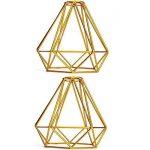SODIAL Forme de diamant en metal Vintage Pendentif Cage de lampe de plafond Decor d'abat-jour - jaune de la marque SODIAL image 4 produit