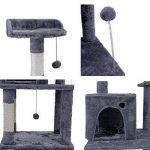 Speedy Pet Meubles de maison à plusieurs niveaux Arbre à chat griffant la hauteur de poteau 145CM Jouets normaux de chaton de sisal avec l'observatoire de ballons de ressort de ressort Couleur Gris de la marque Speedy Pet image 3 produit