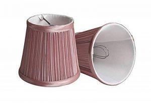 Splink 2pcs Antique Abat-jour A Pince en Tissu Plissé pr E12 Luminaire Applique Murale Lustre 8.5*12*11CM Décor -Rose de la marque Splink image 0 produit