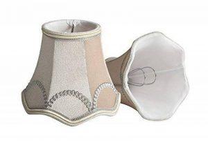 Splink 2pcs Style Europ¨¦en Clip-on Abat-jour en Tissu Handmade pour Bougie Lustre Lampe de Table Applique Mural 75*130*120mm de la marque Splink image 0 produit