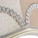 Splink 2pcs Style Europ¨¦en Clip-on Abat-jour en Tissu Handmade pour Bougie Lustre Lampe de Table Applique Mural 75*130*120mm de la marque Splink image 3 produit