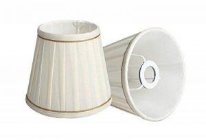 Splink 2pcs Style Européen Abat-jour en Tissu Handmade pour Bougie Lustre Lampe de Table Applique Mural 100*150*130mm de la marque Splink image 0 produit