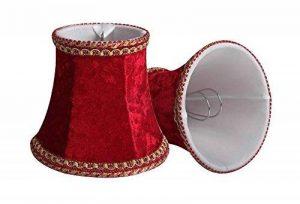 Splink 2pcs Style Européen Clip-on Abat-jour A Pince en Tissu Handmade pour Bougie Lustre Lampe de Table Applique Murale 80*120*110mm de la marque Splink image 0 produit