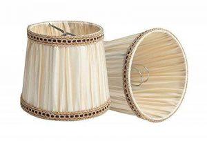 Splink 2pcs Style Européen Clip-on Abat-jour en Tissu Handmade pour Bougie Lustre Lampe de Table Applique Mural 100*125*110mm de la marque Splink image 0 produit