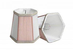 Splink 2pcs Style Européen Clip-on Abat-jour en Tissu Handmade pour Bougie Lustre Lampe de Table Applique Mural 100*130*120mm de la marque Splink image 0 produit
