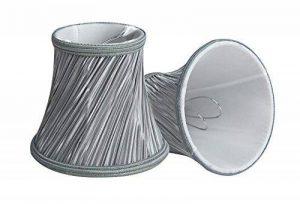 Splink 2pcs Style Européen Clip-on Abat-jour en Tissu Handmade pour Bougie Lustre Lampe de Table Applique Mural 80*120*110mm de la marque Splink image 0 produit