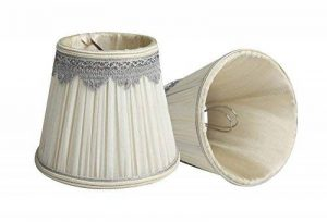 Splink 2pcs Style Européen Clip-on Abat-jour en Tissu Handmade pour Bougie Lustre Lampe de Table Applique Mural 90*140*120mm de la marque Splink image 0 produit