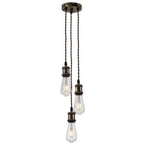 Splink Lampe Suspension 3 Douille E27 Support DIY pour Maison , Bar , Restaurants, Café, Club de la marque Splink image 0 produit