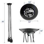 Splink Lustre à 6 Têtes Douilles d'ampoule E27 Lampe Suspension Style Industriel Luminaire DIY Edison Ampoule Vintage Antique Noir de la marque Splink image 1 produit