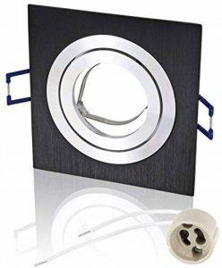 Spot Cadre à encastrer Orientable GU10MR16230V–Rectangulaire–En Fonte Avec Fermeture à clic–incl. Douille GU10–Noir/Argenté de la marque HAVA image 0 produit