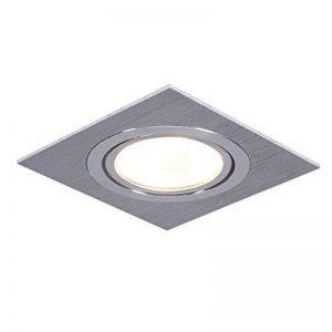 Spot encastré LED RGB changement de couleur 1 pièce set Luminaire à encastrer aluminium carré encastrables 4,3W incl. Télécommande à pour plafond pivotant deckeneinbauspots source d'éclaraige de la marque LHG image 0 produit