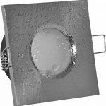 Spot encastrable de salle de bain IP65(étanche) | couleur aluminium brossé | 230V 5W LED blanc chaud 2700K 350lumens | Douille de lampe avec câble de raccordement inclus de la marque LED-Traumleuchten Hausmarke image 1 produit