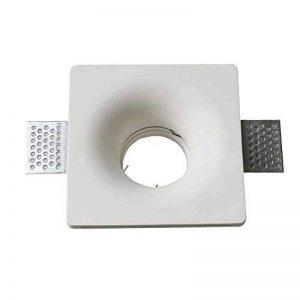 Spot encastrable en plâtre carré encastrable pour culot gU10V-TAC vt-714 de la marque V-TAC image 0 produit