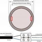 Spot encastrable à LED pour pièces humides IP54230V–5W–460lm–Fonte d'Aluminium–Trou de perçage Ø68mm–tagesweiß (4000K) de la marque HAVA image 4 produit