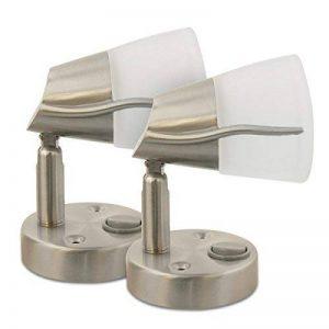Spot LED 12v, 2X Dream Lighting Lampe de Chevet Pour Camping Car Caravane Bateau Applique Murale Blanc Chaud de la marque Dream Lighting image 0 produit