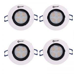 Spot LED Anten® Lot de 4 Plafonnier LED 4W Fixation Spot Encastrable Lumière Blanc Froid Lampe Ronde pour Cuisine, Couloir, Salon et Veranda de la marque Anten image 0 produit