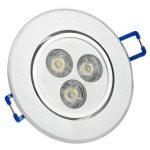 Spot LED Auralum® Lot de 30 Plafonnier LED Orientable 3W Fixation Spot Encastrable Lumière Blanc Chaud Lampe Ronde pour Salon Veranda de la marque AuraLum image 1 produit