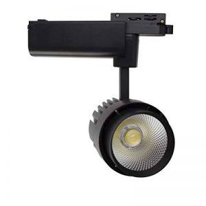 Spot Led Dora 30W Noir pour Rail Monophasé Blanc Froid 6000K LEDKIA de la marque LEDKIA image 0 produit