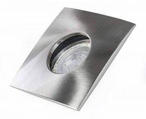 Spot LED encastrable carré 240V GU10IP65spot encastrable de salle lampe de couloir Spot Plafond en aluminium lampe plafond intérieur pour plafond pour plafond Lampe Spot quatre Carré Extérieur Sans ampoule spot gris mat de la marque Lichtmobilie image 0 produit